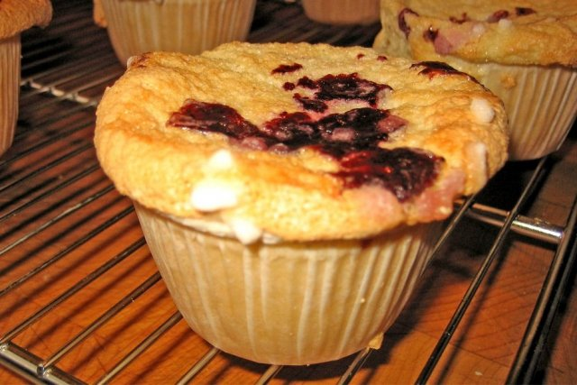 Receta de muffins con arándanos