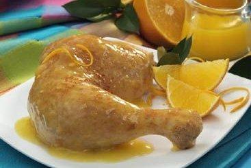 Receta de muslos de pollo con naranja