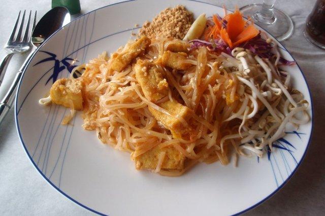 Receta de pad thai con tofu