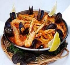 Receta de paella de pescado