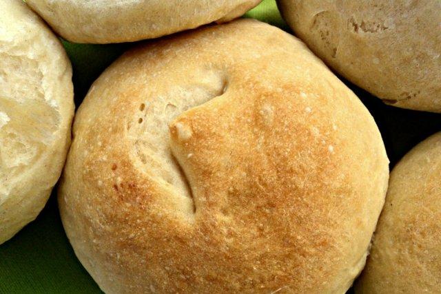 Receta de panecillos de pan blanco