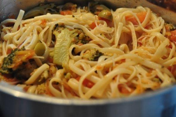 Receta de pasta casera con brócoli