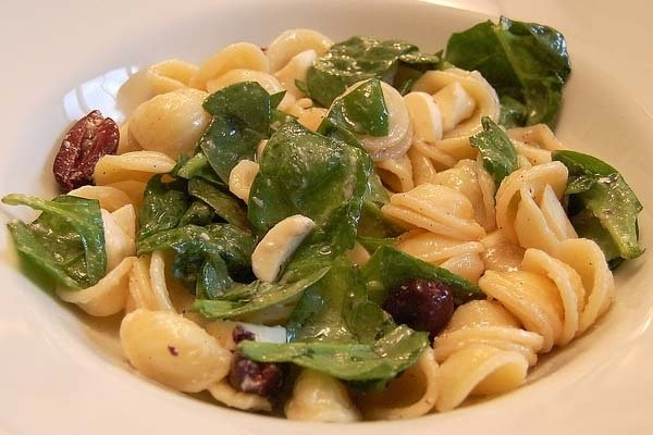 Receta de pasta con espinacas