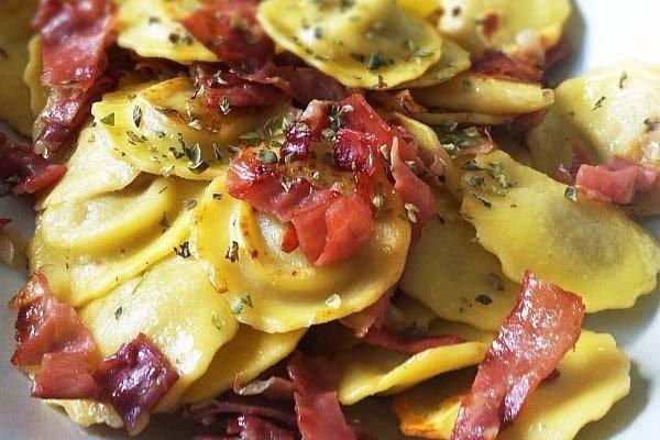 Receta de pasta con jamón