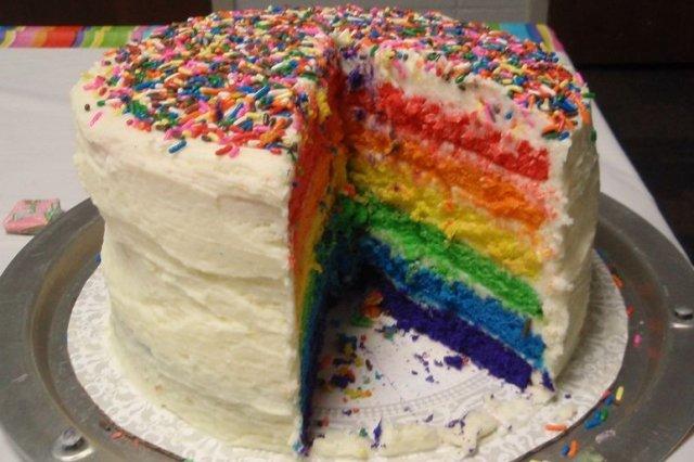 Receta de pastel arcoiris