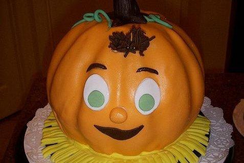 Receta de pastel con forma de calabaza