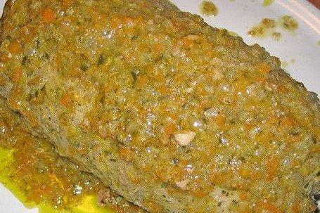 Receta de pastel de carne con verduras
