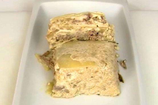 Receta de pastel de carne y patatas