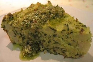 Receta de pastel de verduras y queso