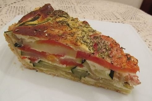 Receta de pastel de verduras