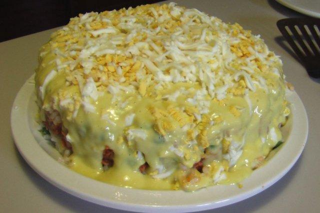 Receta de pastel frío de arroz