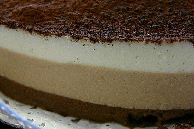 Receta de pastel tres chocolates