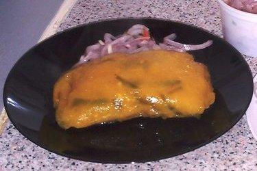 Receta de pastelón de yuca relleno de bacalao