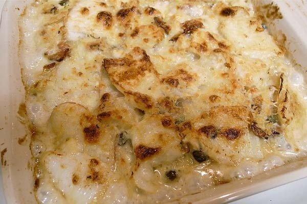 Receta de patatas con nata