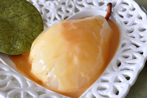 Receta de peras en almíbar