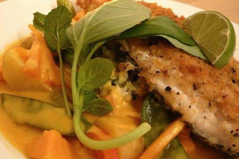 Receta de pescado al horno con verduras