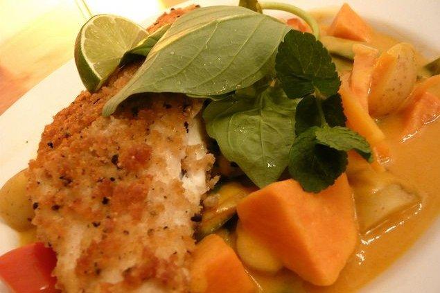 Receta de pescado en salsa de coco