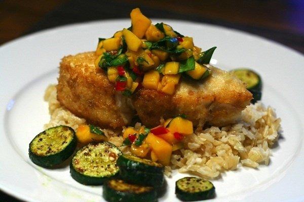 Receta de pescado frito con verduras