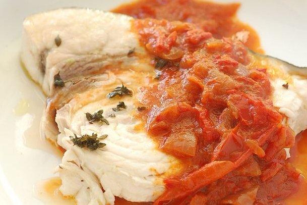 Receta de pez espada con salsa