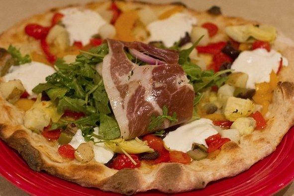 Receta de pizza de alcachofa