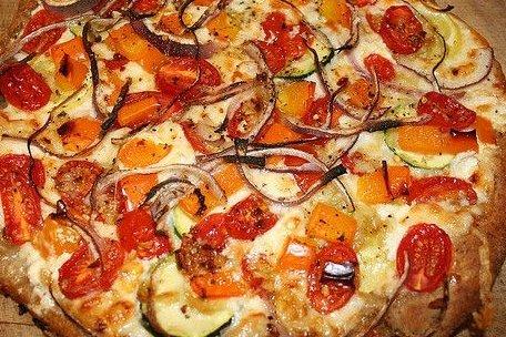 Receta de pizza de calabacín