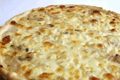 Receta de pizza de cebolla