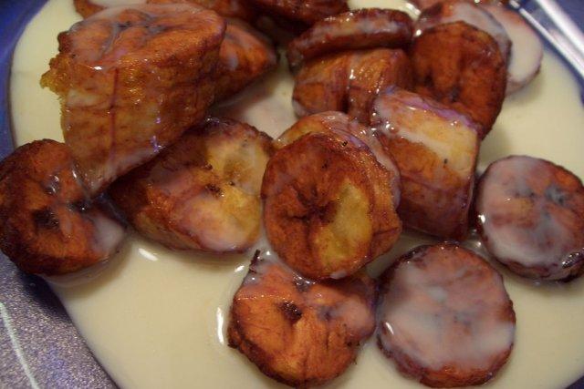 Receta De Plátano Frito Con Leche Condensada