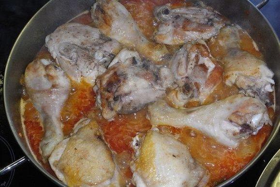 Receta de pollo almendrado