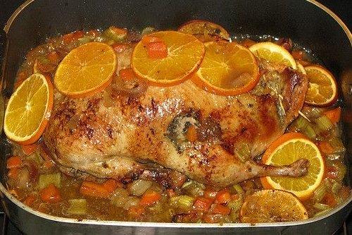Receta de pollo asado a la naranja