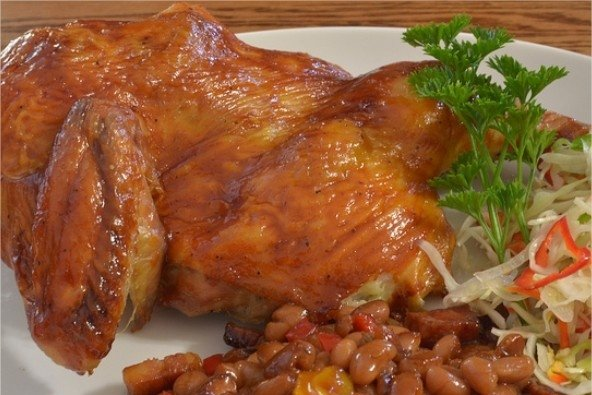Receta de pollo asado con ajo