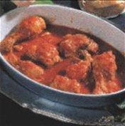 Receta de pollo con pimientos y tomate