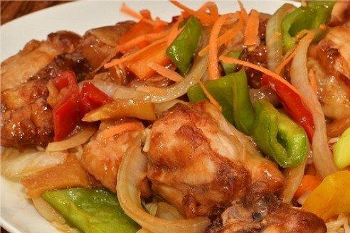 Receta de pollo con pimientos
