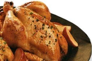Receta de pollo de navidad