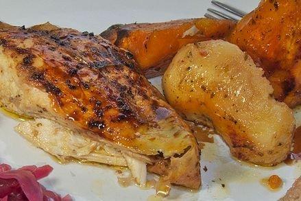 Receta de pollo en salsa al horno