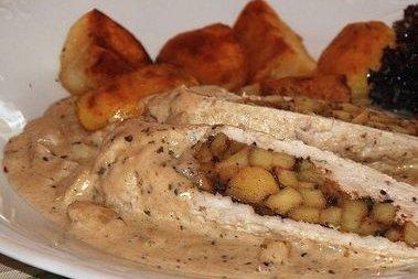Receta de pollo en salsa de almendras