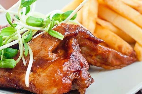 Receta de pollo frito con miel