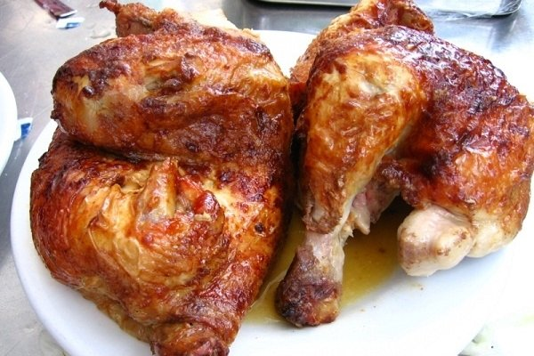 Receta de pollos asados