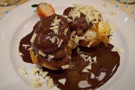 Receta de profiteroles de chocolate