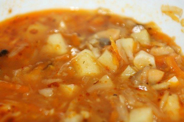 Receta de repollo con patatas