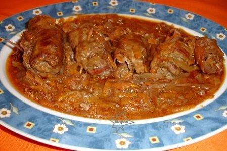 Receta de rollos de carne