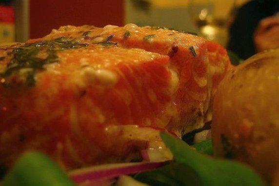 Receta de salmón a la crema de leche