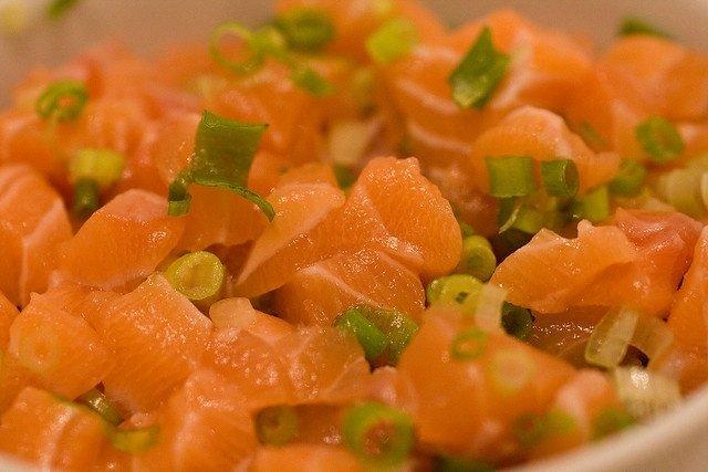 Receta de salmón crudo