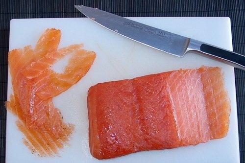 Receta de salmón marinado