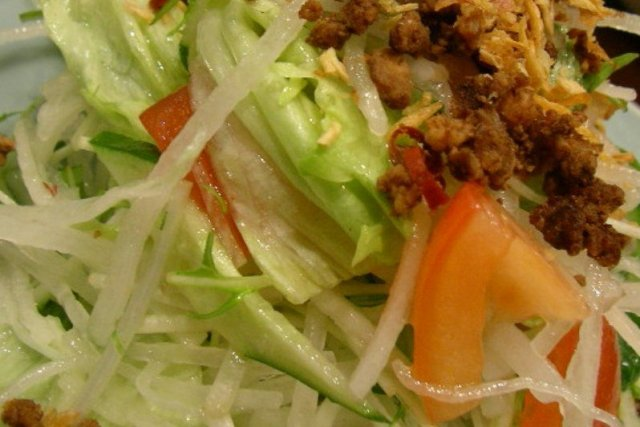 Receta de salsa blanca para ensalada china