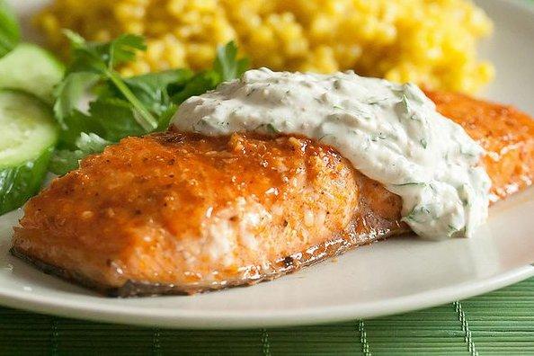 salsas para salmón
