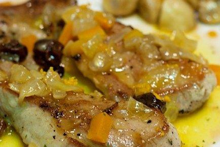 Receta de secreto ibérico en salsa de naranja