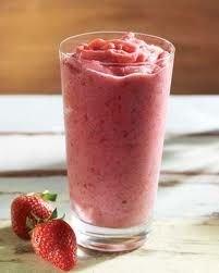 Receta de smoothie de fresa