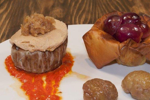 Receta de solomillo con foie