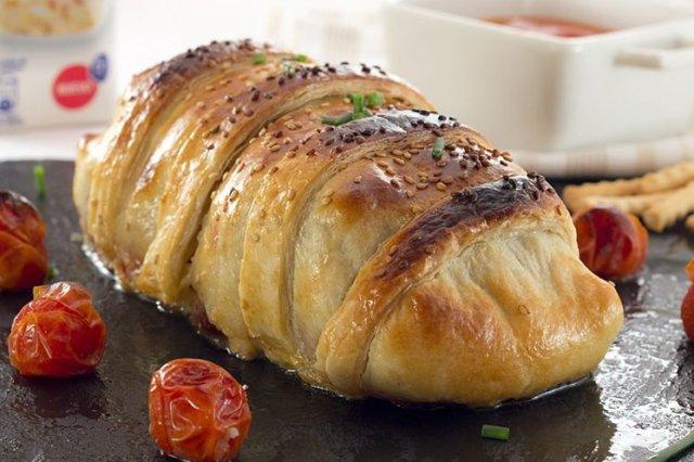 Receta de solomillo wellington con salsa de piquillos
