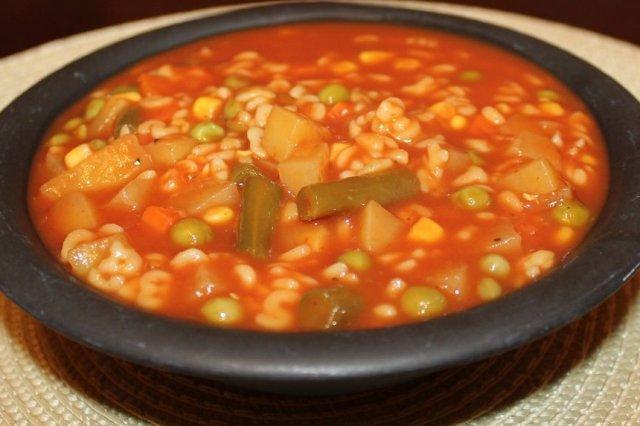 Receta de sopa de letras